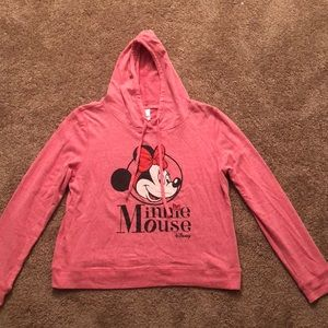 Disney Tops - Minnie Mouse hoodie pink